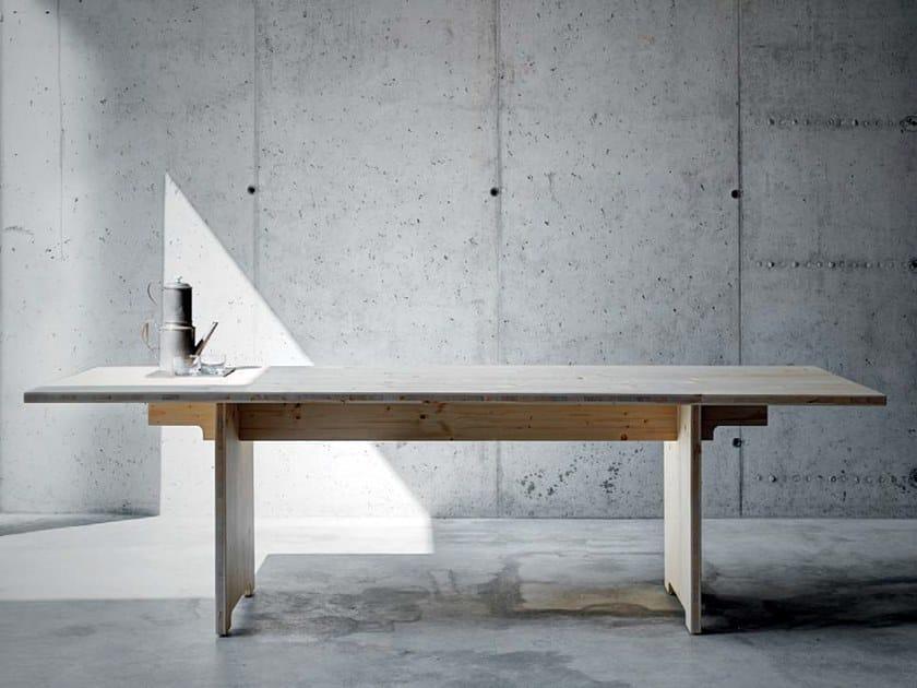 Rectangular laminated wood table TINO by FIORONI