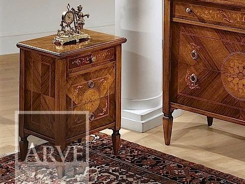 Wooden bedside table with drawers TINTORETTO | Bedside table by Arvestyle