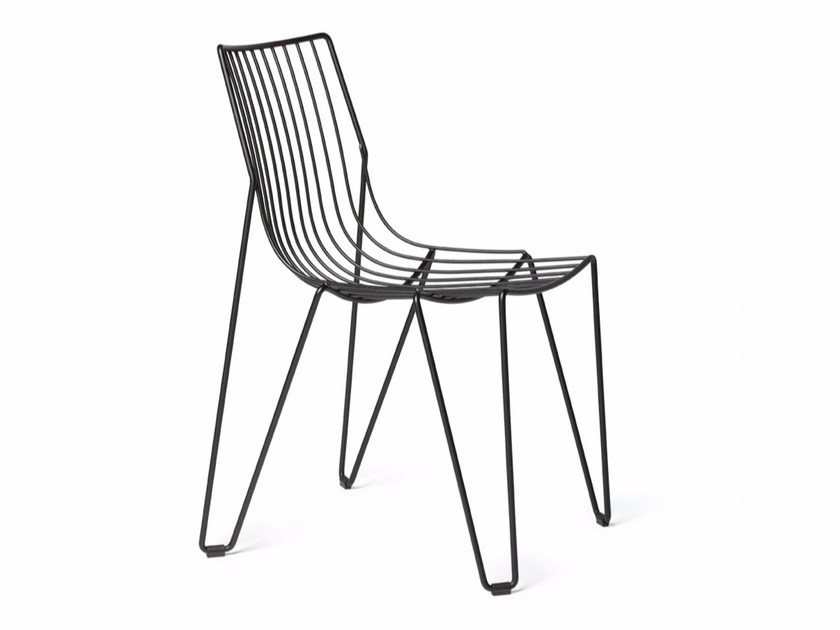 Stackable chair in steel wire TIO | Chair by Massproductions