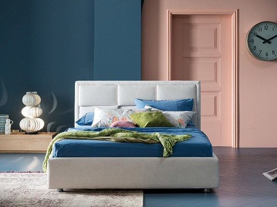 Fabric double bed with upholstered headboard TIP TAP   Bed by Dall'Agnese