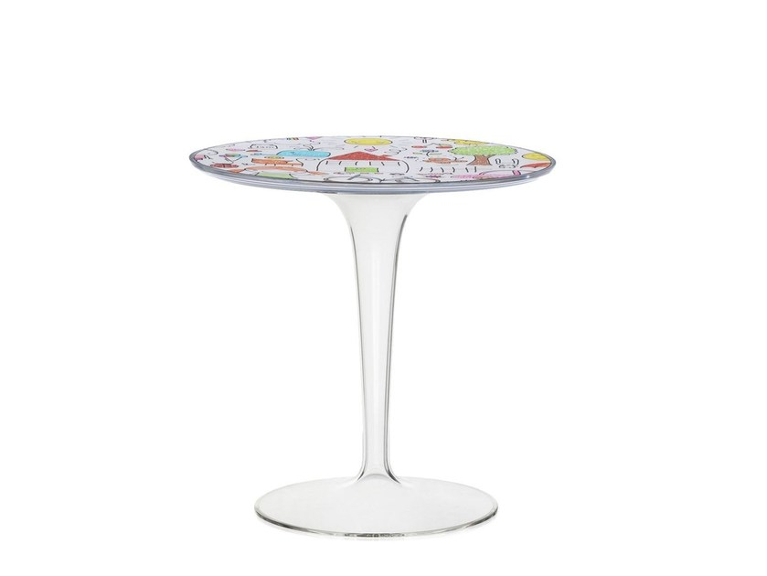 Round PMMA Kids Table TIP TOP By Kartell