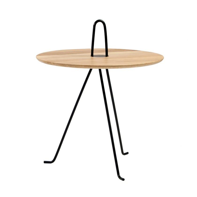 Tavolino di servizio in acciaio e legno TIPI | Tavolino in acciaio e legno by Objekto