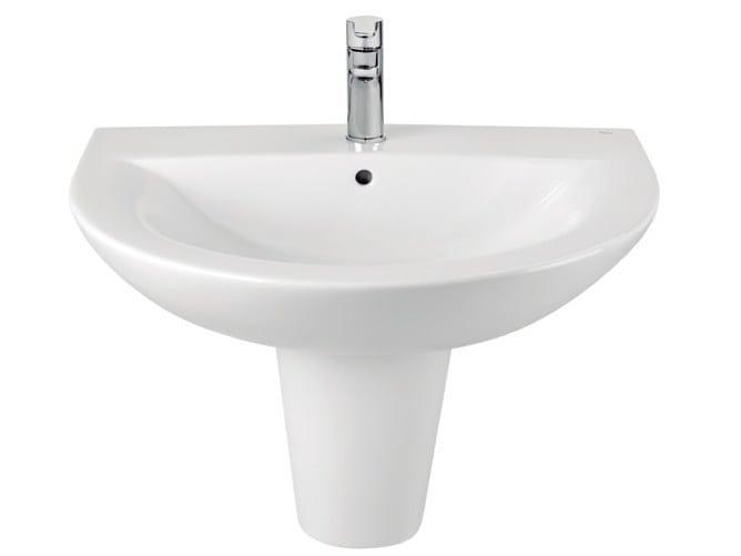 Wall-mounted ceramic washbasin TIPO | Wall-mounted washbasin by ROCA SANITARIO