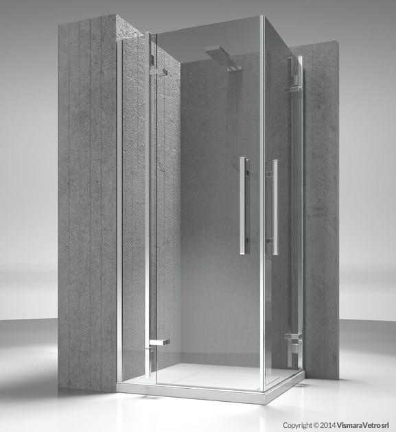Corner custom tempered glass shower cabin TIQUADRO QA+QA by VISMARAVETRO
