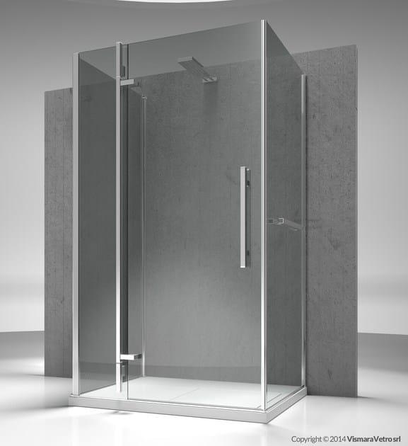 Custom tempered glass shower cabin TIQUADRO QF+QA+QG by VISMARAVETRO