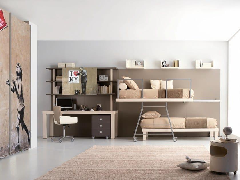 Schlafzimmer Mit Etagenbett Für Jugendliche TIRAMOLLA   CONFIGURAZIONE 326  By TUMIDEI
