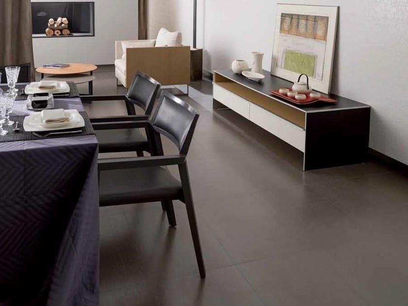 Indoor/outdoor porcelain stoneware flooring TISSUE by Venis