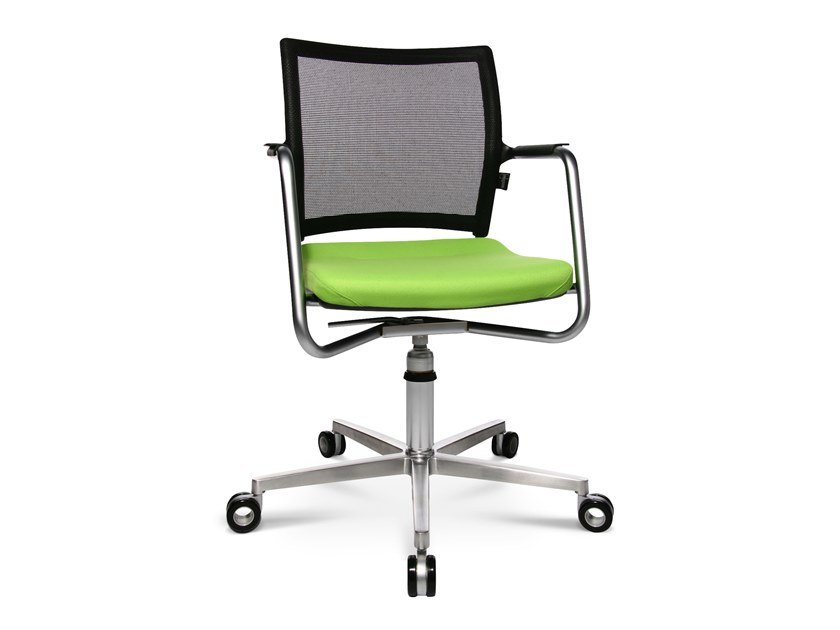 Chair with 5-spoke base with castors TITAN 10 3D VISIT | Swivel chair by WAGNER