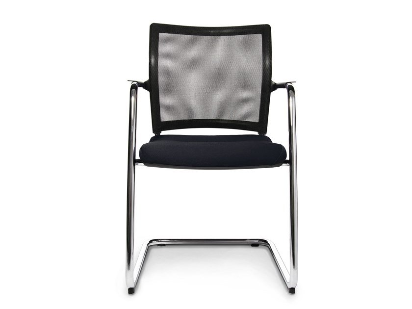 Cantilever reception chair with armrests TITAN 10 VISIT | Cantilever chair by WAGNER