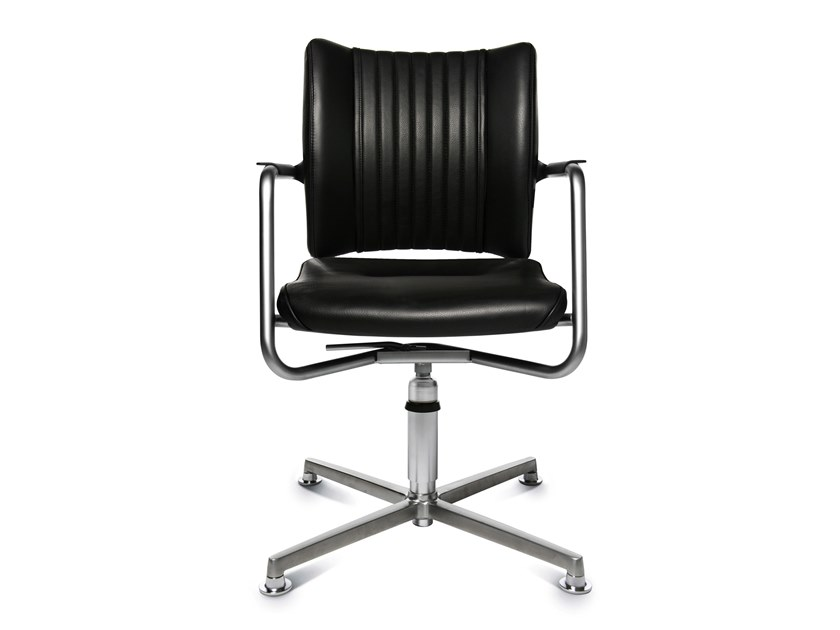 Swivel chair with 4-spoke base with armrests TITAN LIMITED S 3D VISIT   Swivel chair by WAGNER