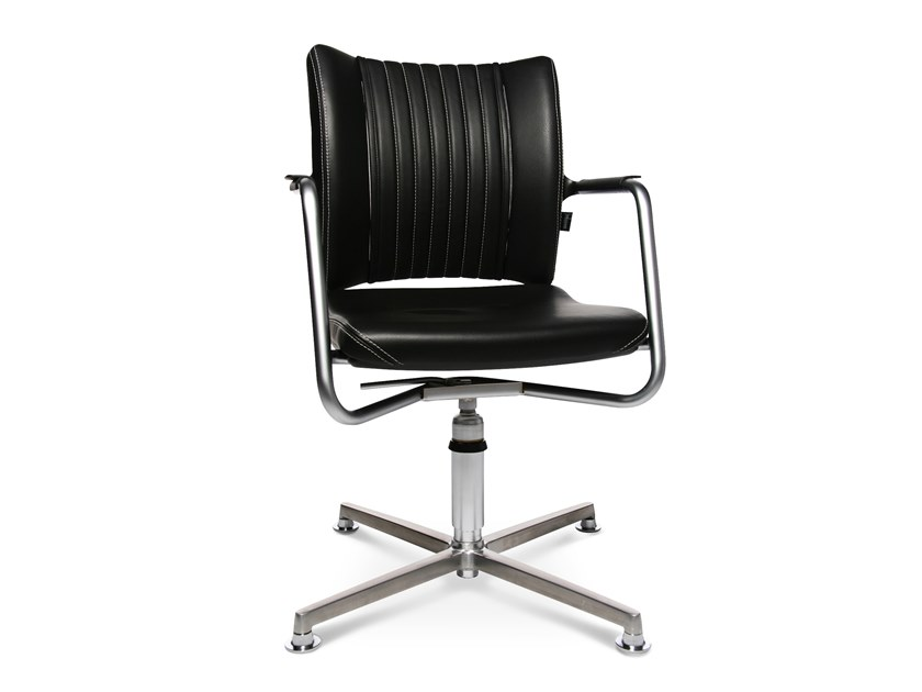 Swivel chair with 4-spoke base with armrests TITAN LIMITED S COMFORT 3D VISIT | Swivel chair by WAGNER