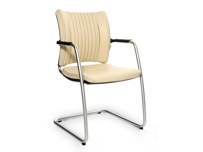 Cantilever reception chair with armrests TITAN LIMITED S COMFORT VISIT | Cantilever chair by WAGNER