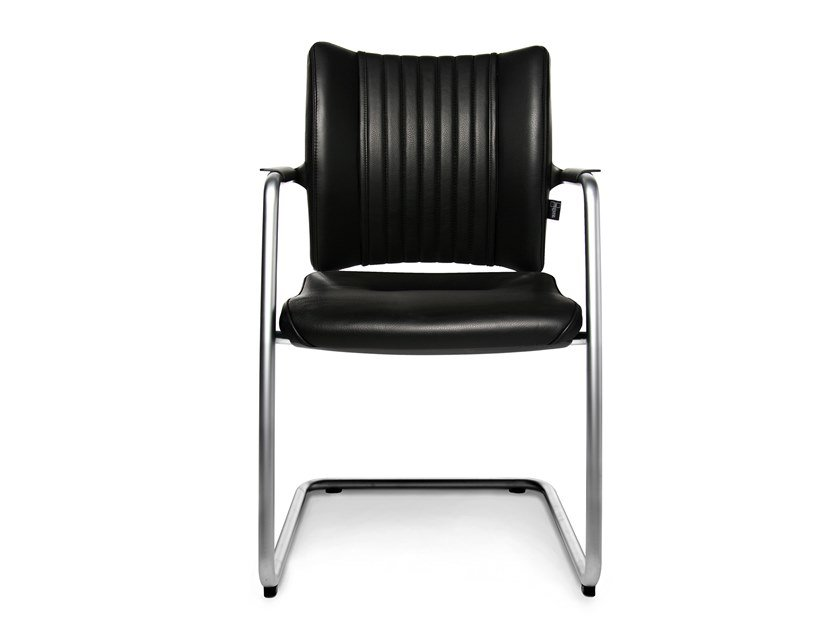 Cantilever reception chair with armrests TITAN LIMITED S VISIT | Cantilever chair by WAGNER