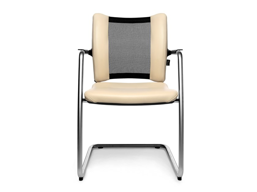Cantilever reception chair with armrests TITAN LIMITED VISIT | Cantilever chair by WAGNER