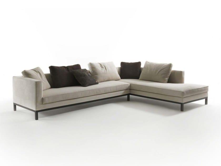 Sectional fabric sofa TITO by Frigerio Salotti