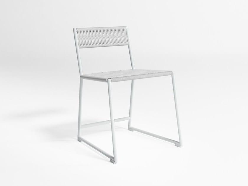 Sled base garden chair TITUNA | Garden chair by GANDIA BLASCO