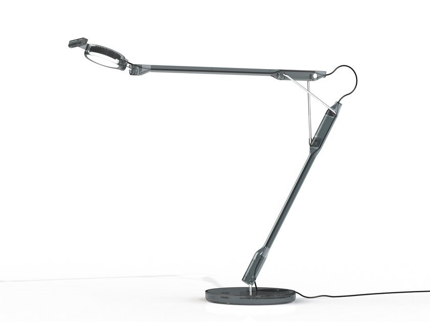 LED swivel polycarbonate table lamp TIVEDO by LUCEPLAN