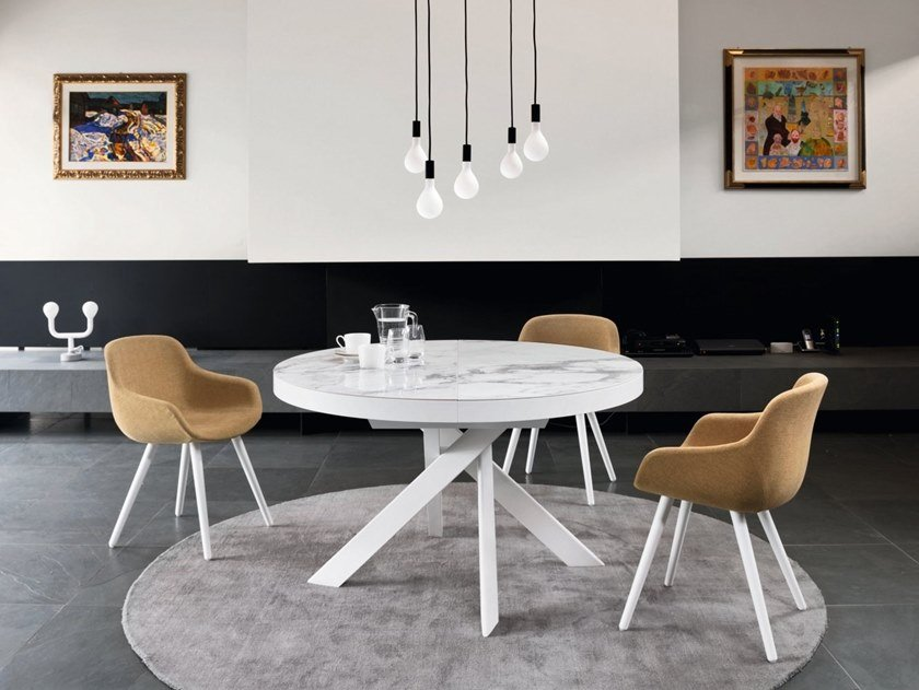 Extending round table TIVOLI by Calligaris