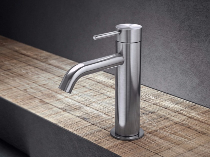 Countertop single handle stainless steel washbasin mixer TKI1 | Washbasin mixer by Radomonte