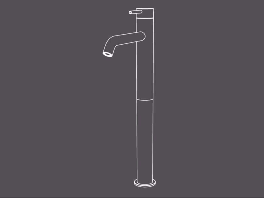 Countertop single handle stainless steel washbasin mixer TKI6 | Washbasin mixer by Radomonte