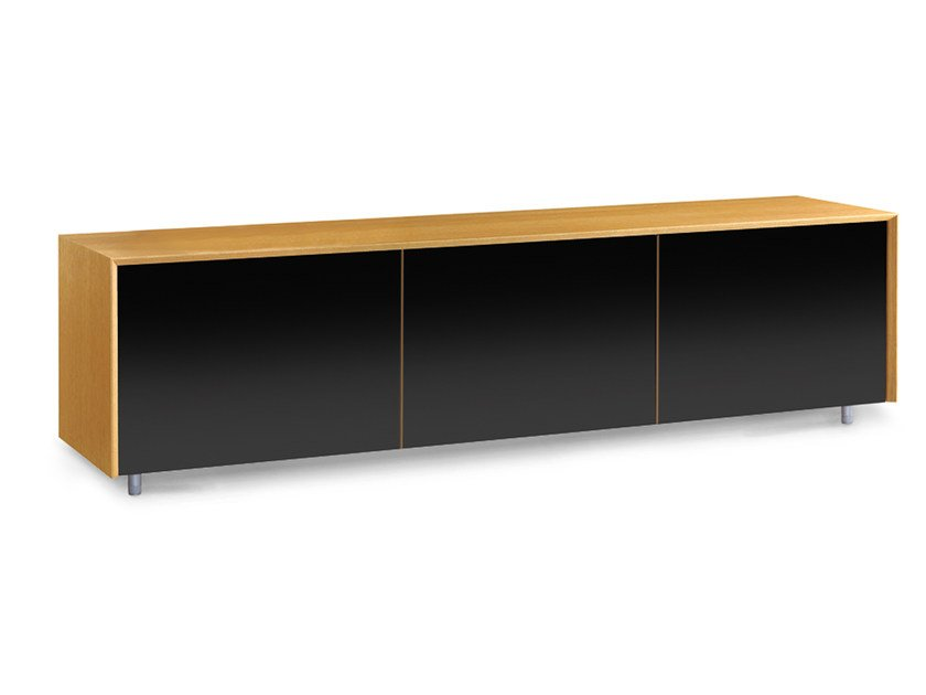Low lacquered wooden TV cabinet TISCHLEIN | TV cabinet by Oliver B.