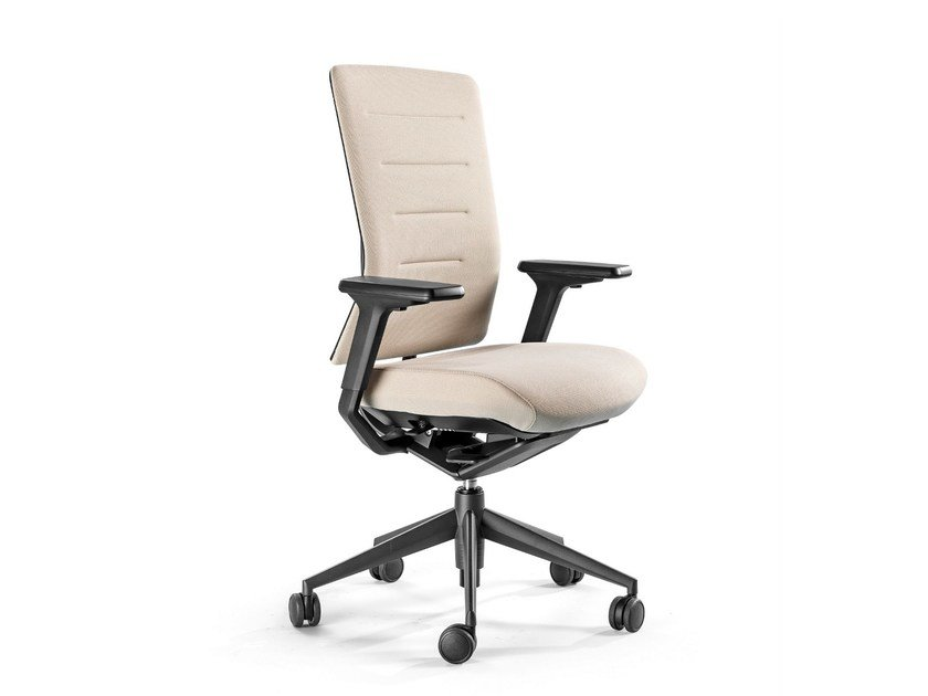 Recliner fabric task chair with 5-Spoke base TNK FLEX | Fabric task chair by ACTIU