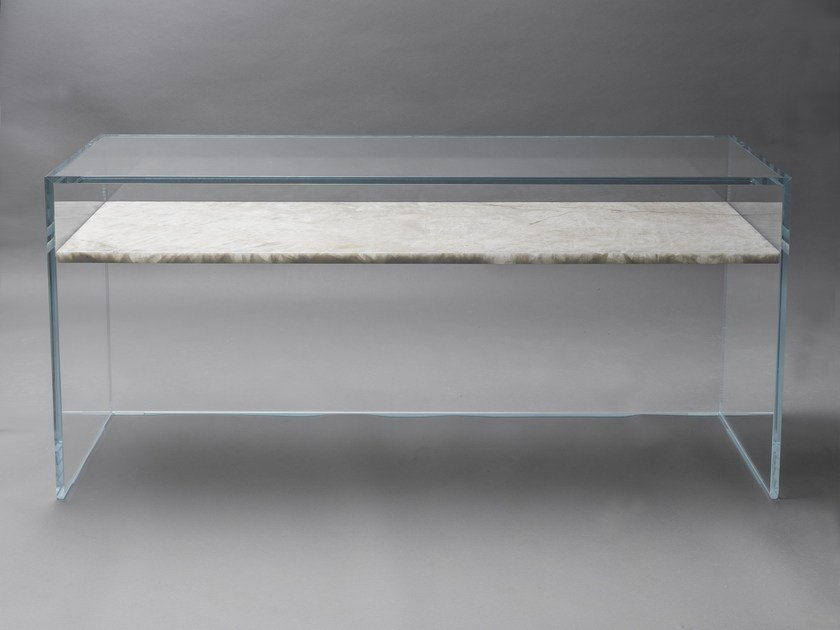 Rectangular crystal console table TO FLOAT FROM GRACE by CLASTE