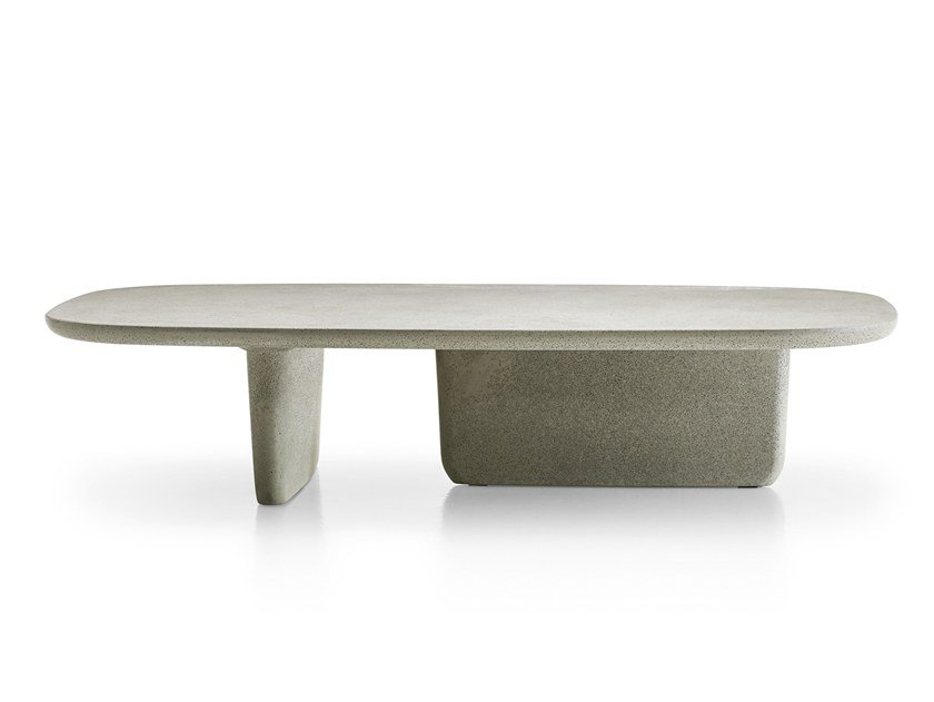 TOBIISHI OUTDOOR Garden Side Table By BB Italia Outdoor Design - Outdoor cement side table