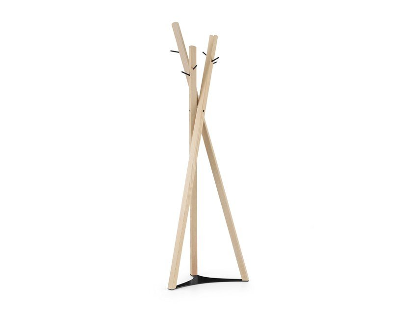 Wooden coat stand TOBIAS | Coat rack by TrabA'