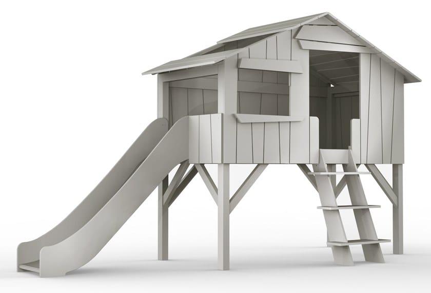 Loft MDF bed TOBOGGANS | Loft bed by Mathy by Bols