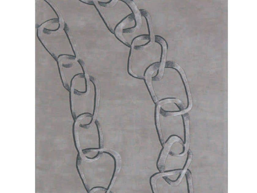 Handmade rectangular rug TOGETHER By Adriani e Rossi edizioni