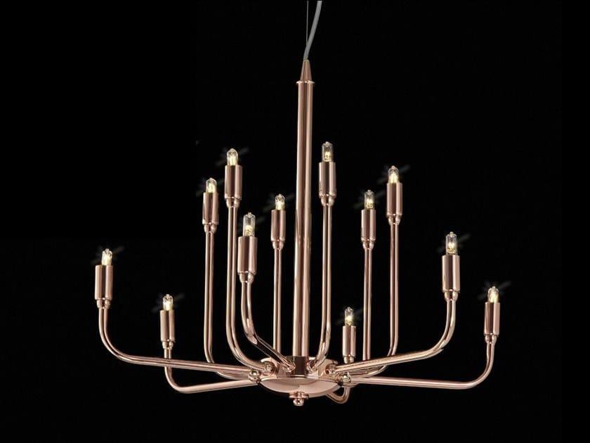 Lampadario a LED in ottone TOGO by Aiardini
