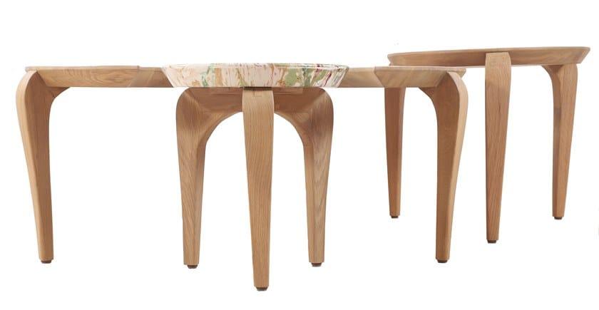 Set Tavolini Legno Alankaram Toha Rotondi Massello Di In QBdxoECeWr