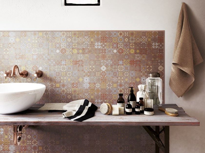 Porcelain stoneware wall tiles with concrete effect TOKA GROUND MAJOLICA by CERAMICA FONDOVALLE