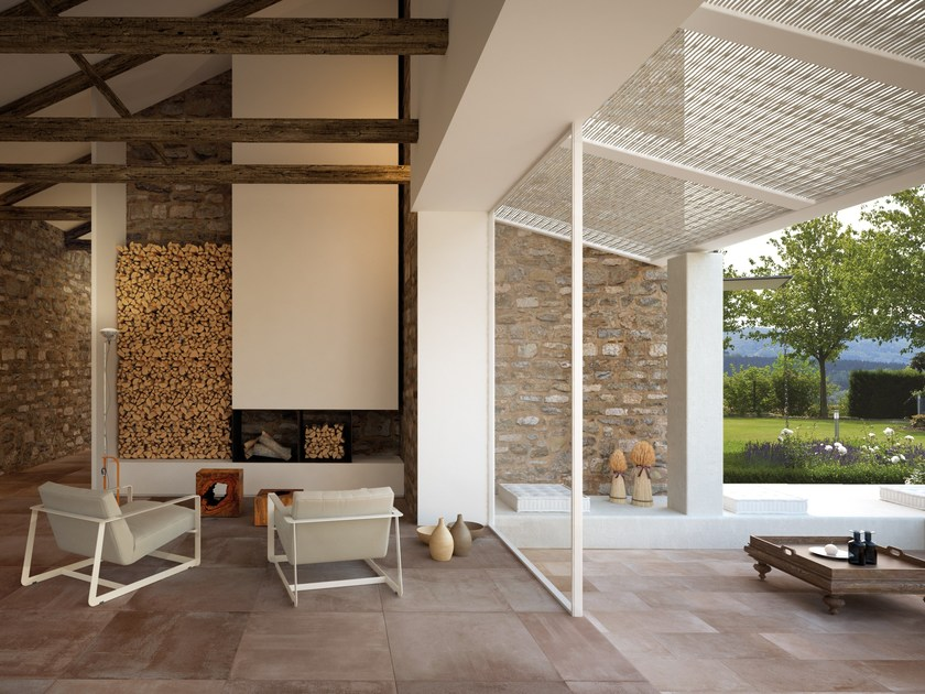 Porcelain stoneware wall/floor tiles with concrete effect TOKA GROUND by CERAMICA FONDOVALLE