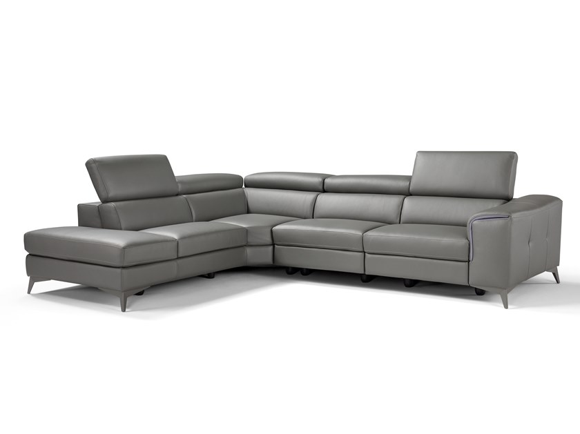 5 seater corner relaxing leather sofa TOKYO by Max Divani