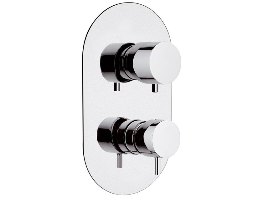 Recessed brass shower mixer with diverter TOKYO | Recessed shower mixer by Daniel Rubinetterie