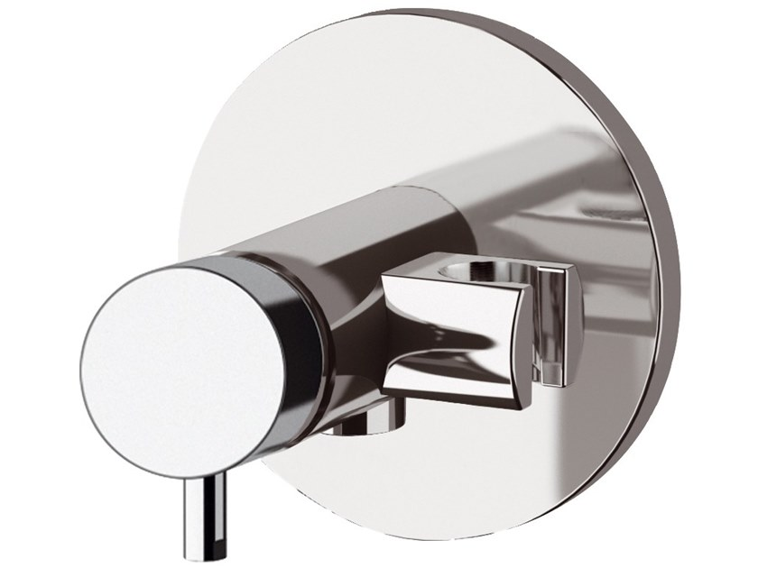 Recessed single handle brass shower mixer with plate TOKYO | Shower mixer by Daniel Rubinetterie