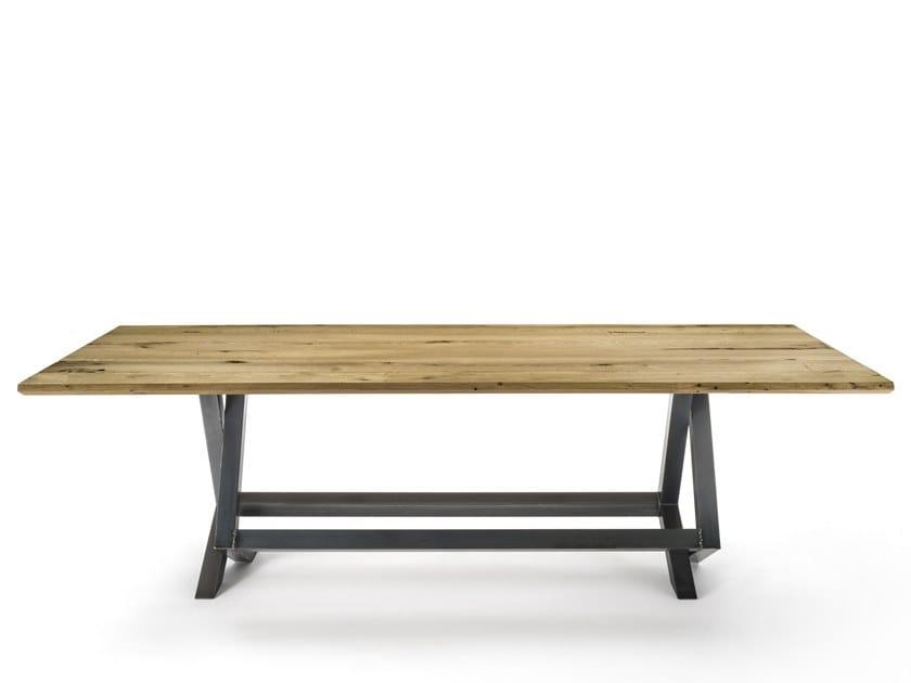 Rectangular briccola wood table TOLA by Riva 1920