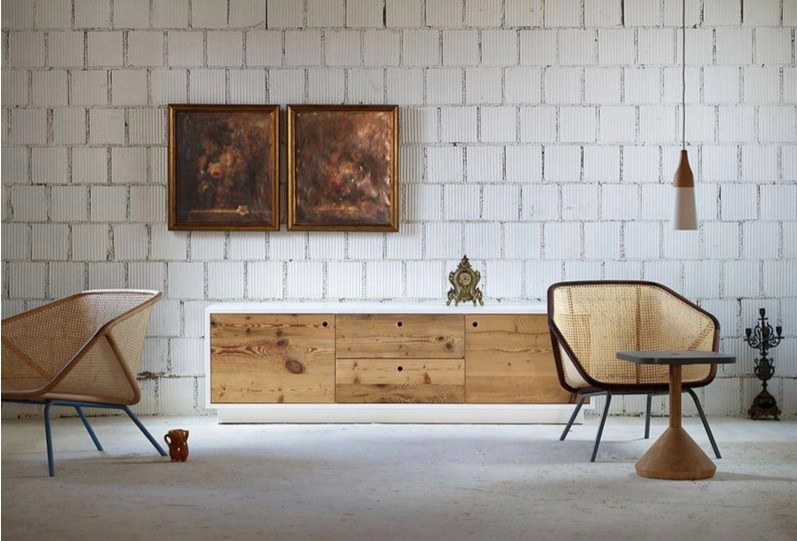 Wooden sideboard with doors TOLA | Wooden sideboard by Miniforms
