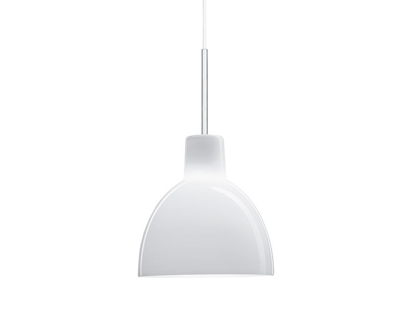 Direct light opal glass pendant lamp TOLDBOD 155/220 by Louis Poulsen