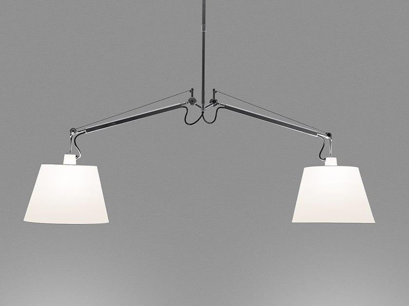Swivel pendant lamp TOLOMEO BASCULANTE SUSPENSION 2 BRACCI by Artemide