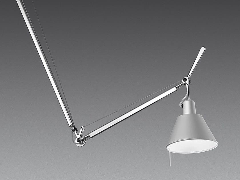 Swivel aluminium pendant lamp TOLOMEO DECENTRATA SUSPENSION   Aluminium pendant lamp by Artemide