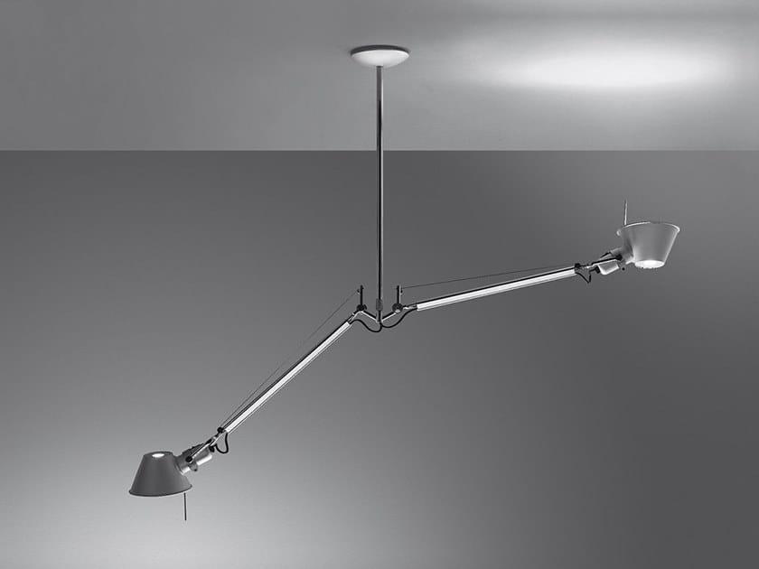 Aluminium pendant lamp TOLOMEO DUE BRACCI SUSPENSION by Artemide