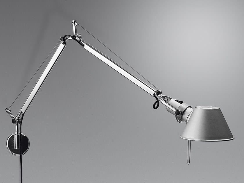 Direct light aluminium wall lamp TOLOMEO MINI WALL | Wall lamp by Artemide