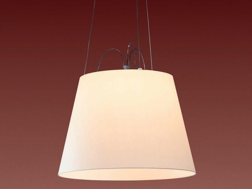 Direct light halogen parchment paper pendant lamp TOLOMEO MEGA | Parchment paper pendant lamp by Artemide