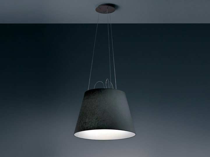 Direct light halogen fabric pendant lamp TOLOMEO MEGA | Fabric pendant lamp by Artemide