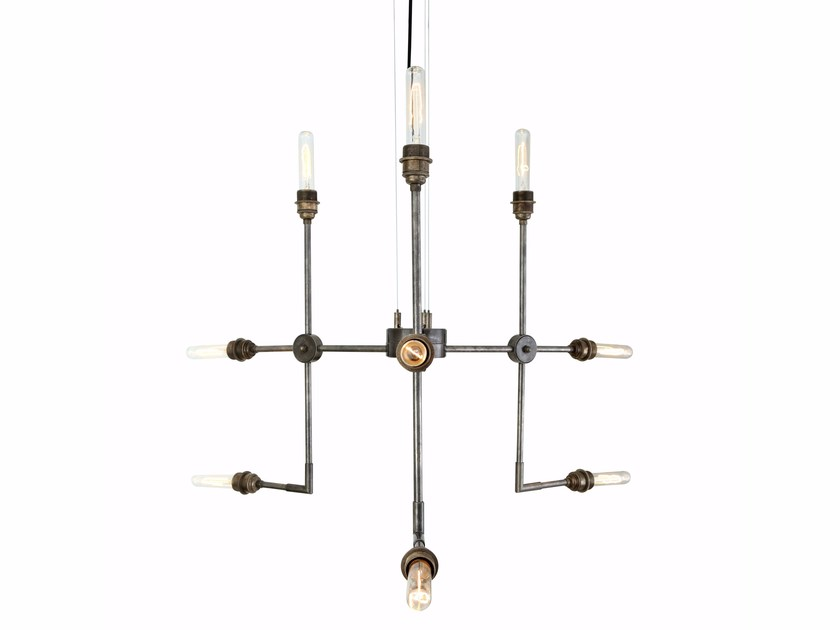 Brass chandelier TOLUCA by Mullan Lighting