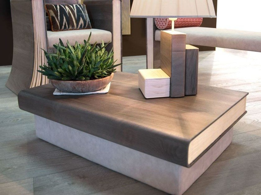 Wooden coffee table for living room TOMI DE LEGN | Coffee table by CADORIN GROUP