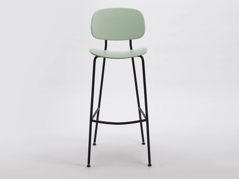 Polypropylene chair with footrest TONDINA POP by Infiniti